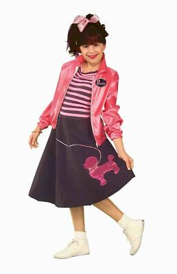 Girls Nifty Fifties Sock Hop Costume 50's Kids Costume Child Size Large - Fifties Costumes For Girls
