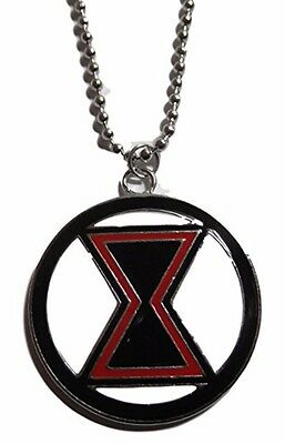 Marvel Comics BLACK WIDOW Logo Pendant Necklace with 20