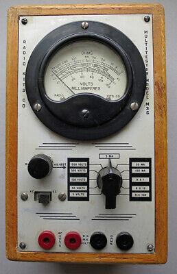 Vintage Radio Kits Co. Vom Multitester Model M3c