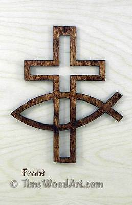 Fishers of Men Christian Cross, for Wall Hanging or Ornament, Item S5-8](Fishers Of Men Craft)