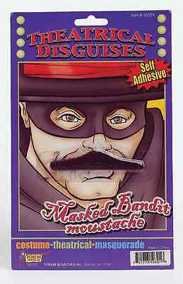 Zorro Mustache Bandit Zoro Facial Hair Moustache Black Self-Adhesive Halloween