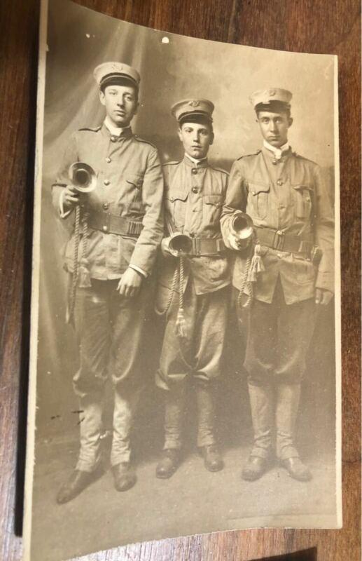 LOT of WWI rppc Infantry Boys Battalion postcards boy scouts photos  soldiers