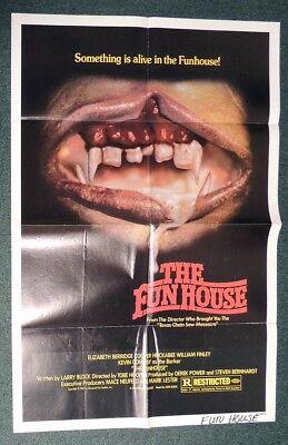 ESZ5575. FUNHOUSE Original 1-Sheet Poster Elizabeth Berridge Universal 1981