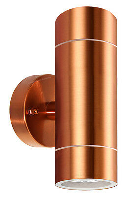 Diyebay garden up down outdoor wall light copper stainless steel ip65 zlc081c mozeypictures Image collections