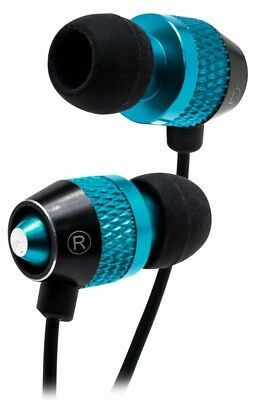 Universal Earphone/Ear Buds,3.5mm Noise Cancelling Handsfree-Blue/ Black (Blue Noise Canceling Ear Buds)