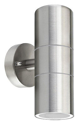 Diyebay stainless steel up down wall light gu10 ip65 double outdoor wall light zlc03 mozeypictures Image collections