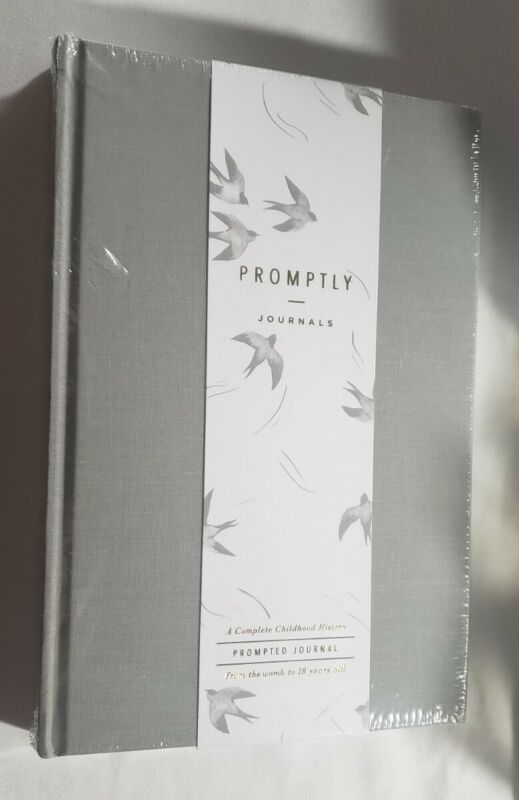 Promptly Journals Grey Baby Book First Year and Pregnancy Childhood History Gray