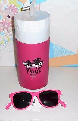 3cdf352b06a66b Victoria s Secret Pink Water Bottle   Bottle Opener Sunglasses Pink On  Fleck NWT