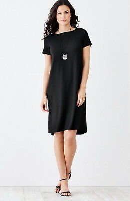 J.Jill WEAREVER DRESS   3X  NWT  $99  Pleated Back A Line Dress  BLACK