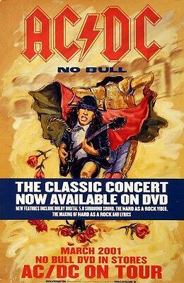 AC/DC 2001 No Bull Concert DVD Original Promo Poster