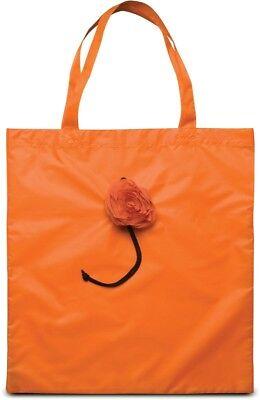Modische Einkaufstaschen (KIMOOD - Modische Einkaufstasche Shopper faltbar als Rose orange - NEU 39x52 cm)