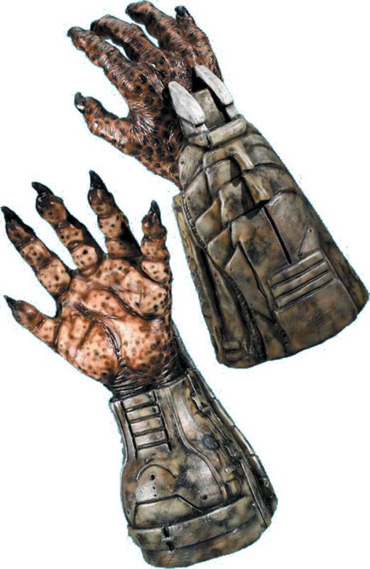 Morris Costumes Adult Unisex Predator Latex Gauntlet Hand Gloves. RU584