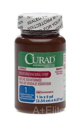 MEDLINE CURAD Iodoform Gauze Packing Strip Sterile 1