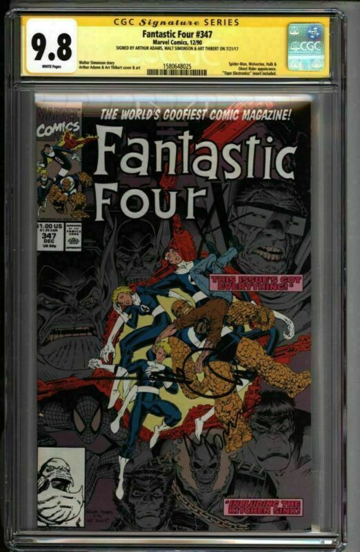* FANTASTIC Four #347 CGC 9.8 SS Adams Simonson Thibert (1580648025) *