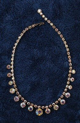 60s -70s Jewelry – Necklaces, Earrings, Rings, Bracelets Vintage Weiss  Crystal Necklace  Royalty Collection 1960's $49.49 AT vintagedancer.com