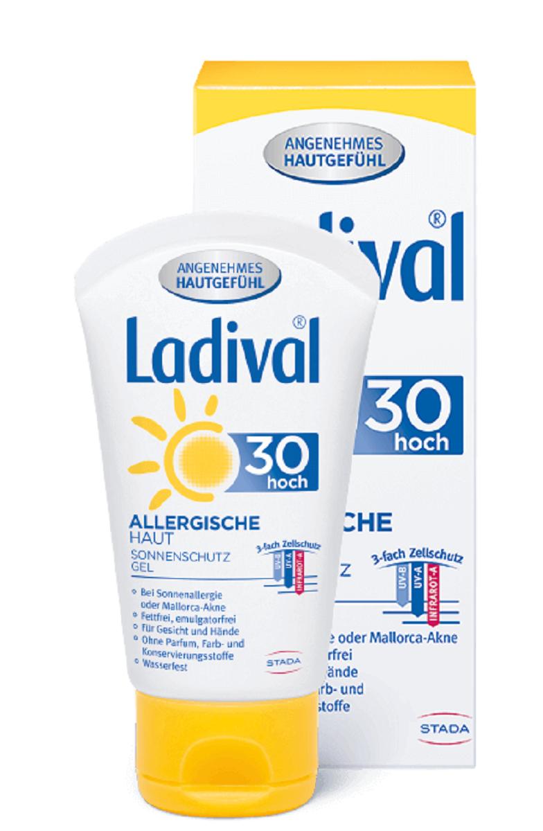 LADIVAL® ALLERGISCHE HAUT SONNENSCHUTZ GEL FÜR GESICHT/HÄNDE LSF 30 50 ml