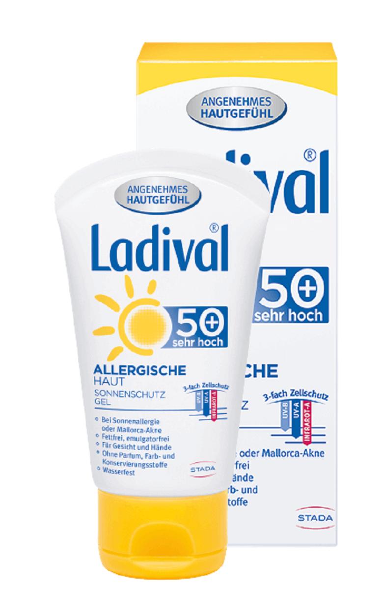 LADIVAL® ALLERGISCHE HAUT SONNENSCHUTZ GEL FÜR GESICHT/HÄNDE LSF 50+ 50 ml