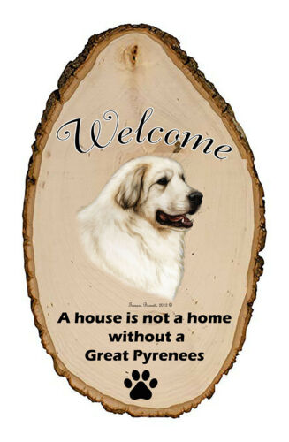 Outdoor Welcome Sign (TB) - Great Pyrenees 51146