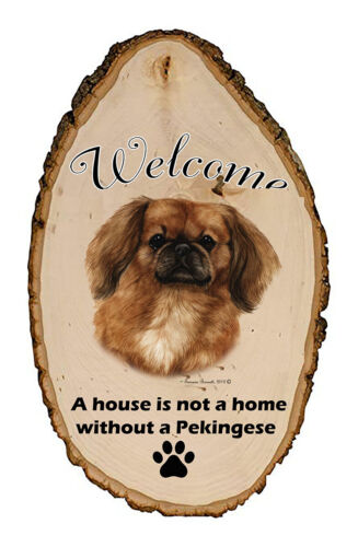 Outdoor Welcome Sign (TB) - Red Pekingese 51042