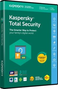 Kaspersky total security 2018 Canadian 2 pc