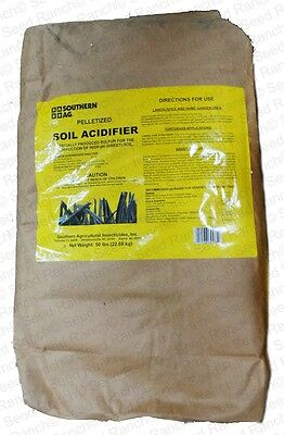 Soil Acidifier Sulfur Prills Granular - 50 Lbs