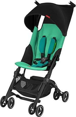 GB Pockit + Plus Travel Compact Folding Single Seat Baby Stroller, Laguna Blue