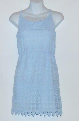 Divided H&M Ladies Spaghetti Strap Blouson Lace Dress Pale Blue Large (L) NWT