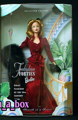 """Fabulous Forties 40's Great Fashions of the 20th Century Barbie Doll """""""