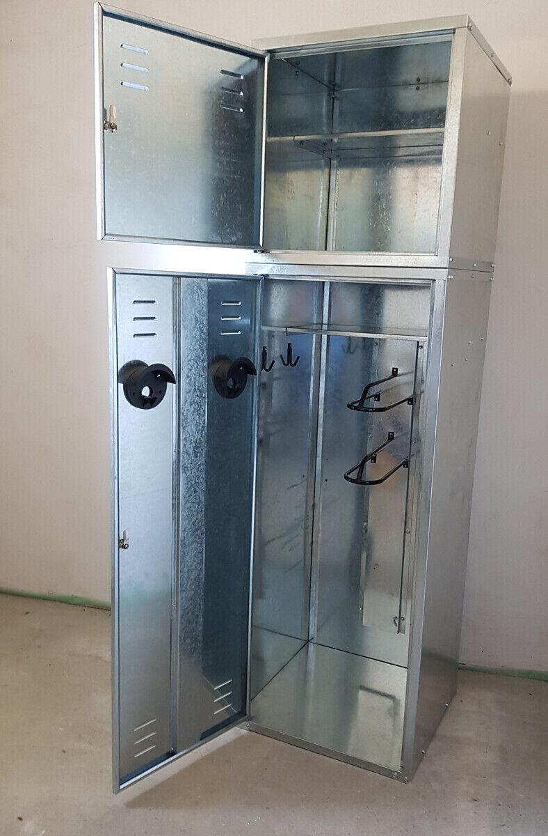 nilo Sattelschrank, Metallschrank, 150cm x 60cm x 60cm + Aufsatz
