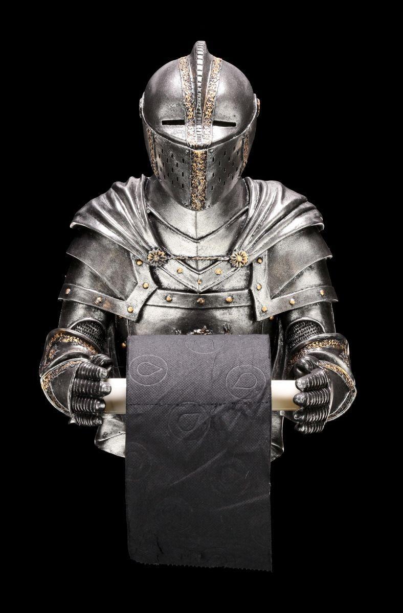 Ritter Toilettenpapierhalter - Sir Wipealot - Figur Mittelalter Bad WC Deko Klo