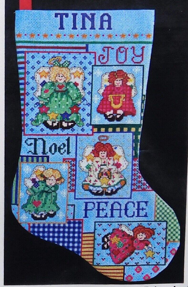 Sealed! PEACE ANGELS CHRISTMAS STOCKING #5490 Design Works C