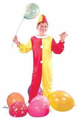 KIDS CLOWN JUMPSUIT CIRCUS DRESS FANCY DRESS BOOK WEEK SIZE 4/12 YEARS  ()