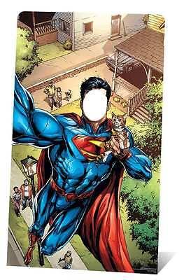 Stand Up Photo Cutouts (SUPERMAN SUPERHERO SELFIE STAND IN CARDBOARD CUTOUT/stand UP/STANDEE - Photo)