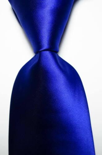 New Classic Solid Blue Jacquard Woven 100% Silk Men
