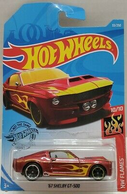 Hot Wheels '67 Shelby GT-500 RED with Flames  #10/10 OR #33/250 Free Shipping