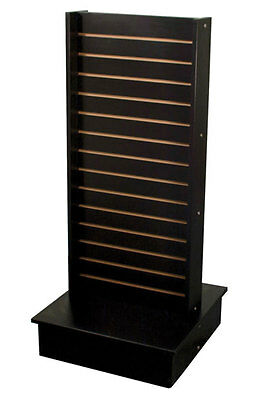 Rolling Slatwall Gondola Display 2-sided Retail Store Fixture Us Made Black New