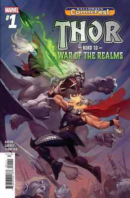 HALLOWEEN COMICFEST HCF 2018 THOR ROAD TO WAR OF THE REALMS 1 NM GIVEAWAY PROMO (Halloween Comicfest Comics)