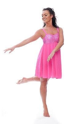 Pink Paillette Shorts Lyrisch Kleid Zeitgenössisch Ballett Tanzen Kostüm von