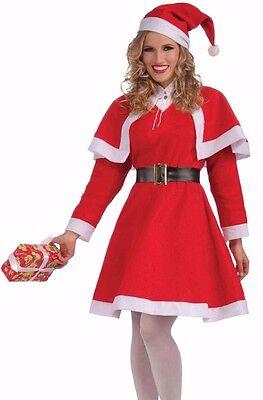 Sexy Miss Santa Costume Dress Female Mrs. Claus Santa Clause Helper Christmas (Miss Clause Costume)