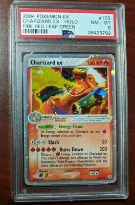 2004 Pokemon EX Fire Red Leaf Green Holo Charizard EX #105 PSA 8 NM-MT