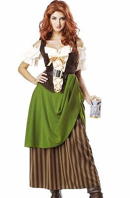 Pirate Maiden Costume - Tavern Maiden Costume Pirate Beer Wench Renaissance Bavarian Oktoberfest Maid