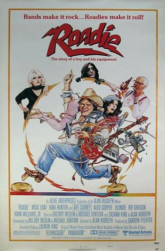 Blondie Alice Cooper Meat Loaf Roadie 1980 Original Movie Promo Poster