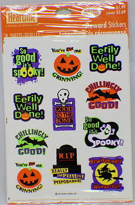 Hallmark Cards Heartline Vintage Halloween Word Ghost Sticker Pack 4 sheets new](Halloween H Words)