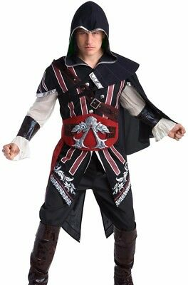 Assassins Creed Ezio Costume Deluxe Adult Mens Warrior - M L XL - Fast Ship - - Assassins Creed Costume Womens