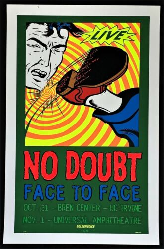 No Doubt POSTER Face To Face TAZ Original First Printing Irvine Universal City