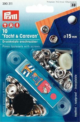 Prym Druckknöpfe Yacht & Caravan 15 mm silberf. Boot Öse Niete Garten  390211