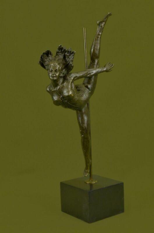 Bronze Sculpture Art Deco Aldo Vitaleh Large Ballerina Statue Figurine Figure