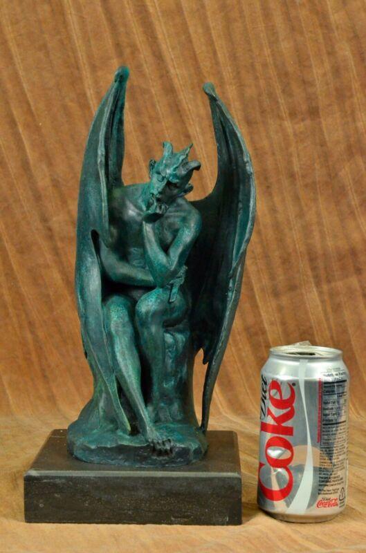 Satan Lucifer Devil Statue Bronze Satanism Baphomet Hot Cast Marble Sculpture