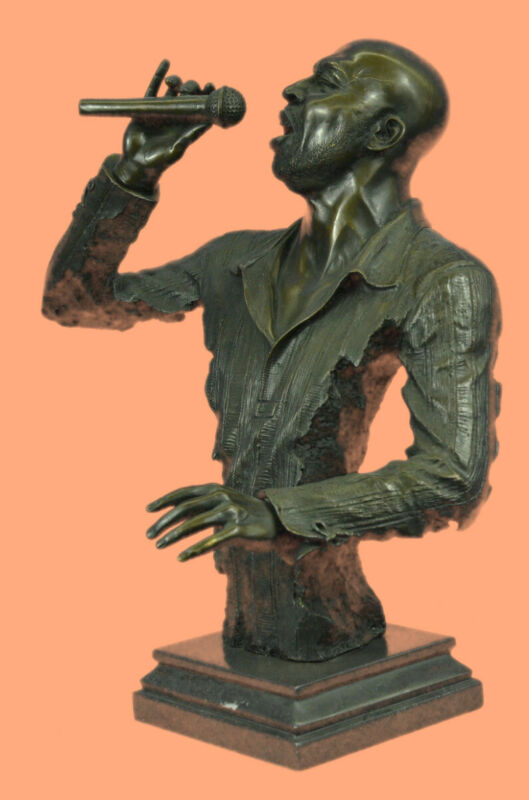 Hot Cast Large Detailed Singer Male Man Hand Made Bronze Museum Artwork Decor