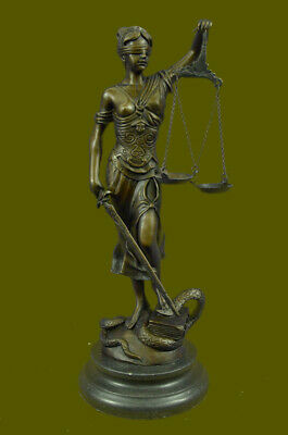 Blind Justice (Lady Justice Blind Scale of Justica Bronze Statue Figurine New Mayer Lawyer)